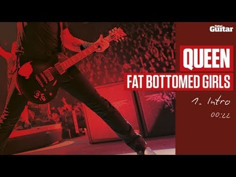 Guitar Lesson: Queen 'Fat Bottomed Girls' -- Part One -- Intro (TG216)