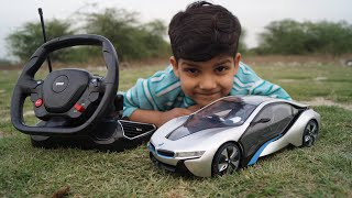 BMW i8 Rc Car Unboxing & testing with remote control For kids