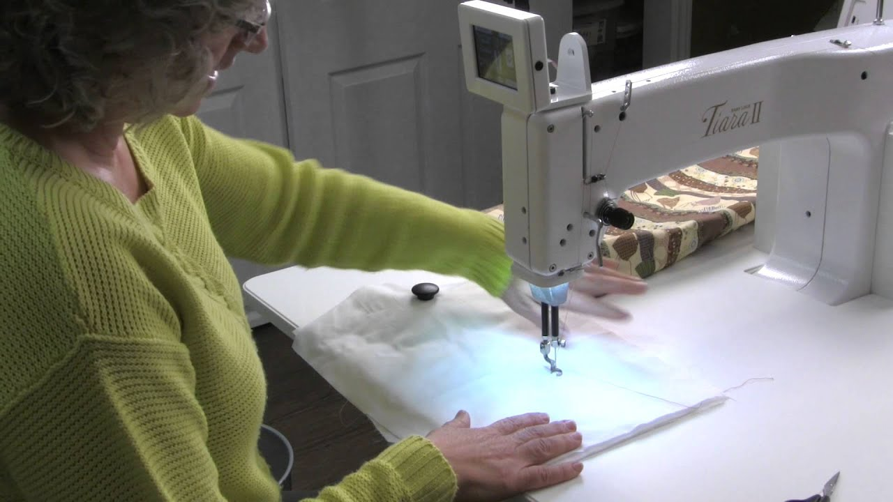 A beginner learns to quilt on the Baby Lock Tiara II - YouTube : tiara quilting machine - Adamdwight.com