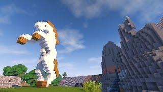 СТАТУЯ ЛОШАДИ В МАЙНКРАФТ - Как построить? Statues Of Horses In Minecraft