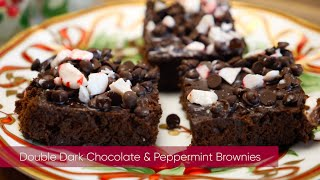 Home Care Assistance's Double Dark Chocolate & Peppermint Brownies
