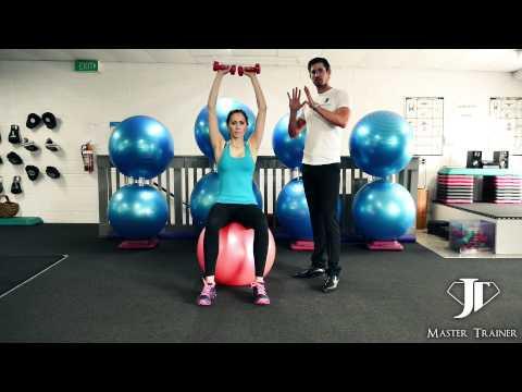 JT Training Tips - Swiss Ball Dumbbell Shoulder Press