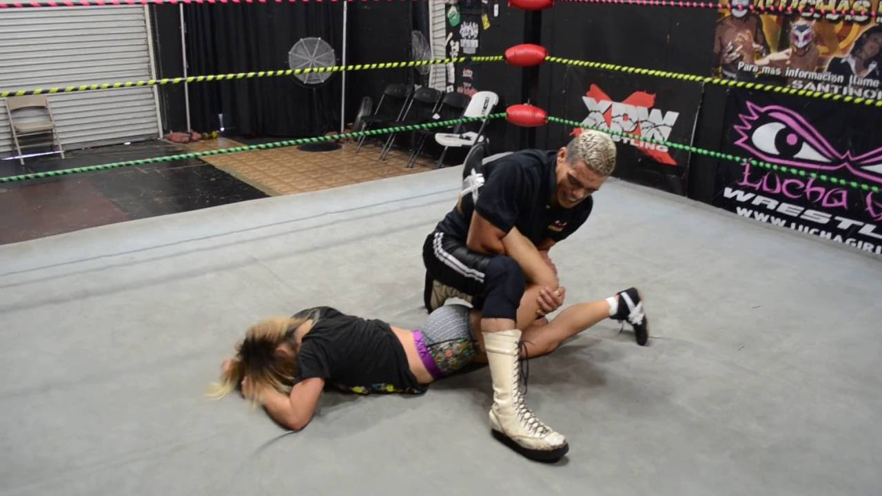 Pro Wrestling training Kaos working with Julie