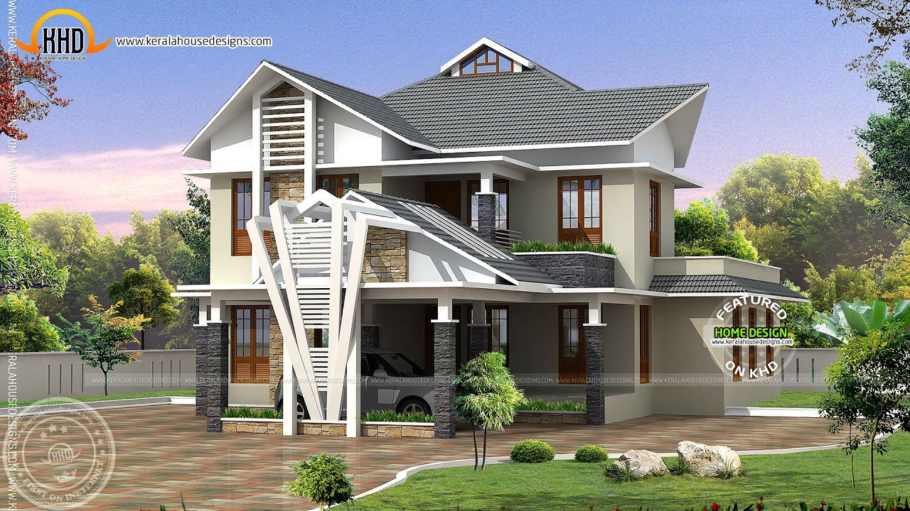 Architecture house plans compilation july 2012 youtube for Www kerala house designs com