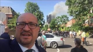 المبنى المحترق
