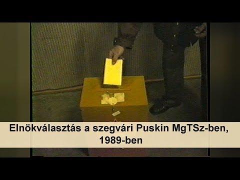 Elnökválasztás a szegvári Puskin MgTSz-ben, 1989-ben