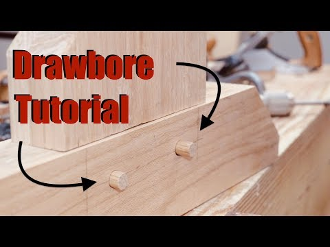 Drawbored Mortise and Tenon Tutorial   Woodworking with Hand Tools