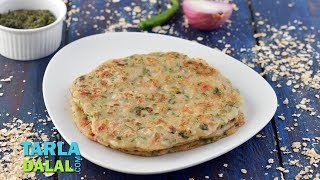 Spicy Oats Pancake ( Low Cholesterol) By Tarla Dalal