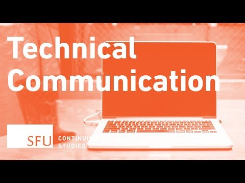 Introduction to technical writing at SFU