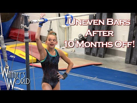 Uneven Bars after Elbow Surgery | Whitney Bjerken Gymnastics