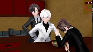 [MMD Mystic Messenger] Right in front of my salad!?