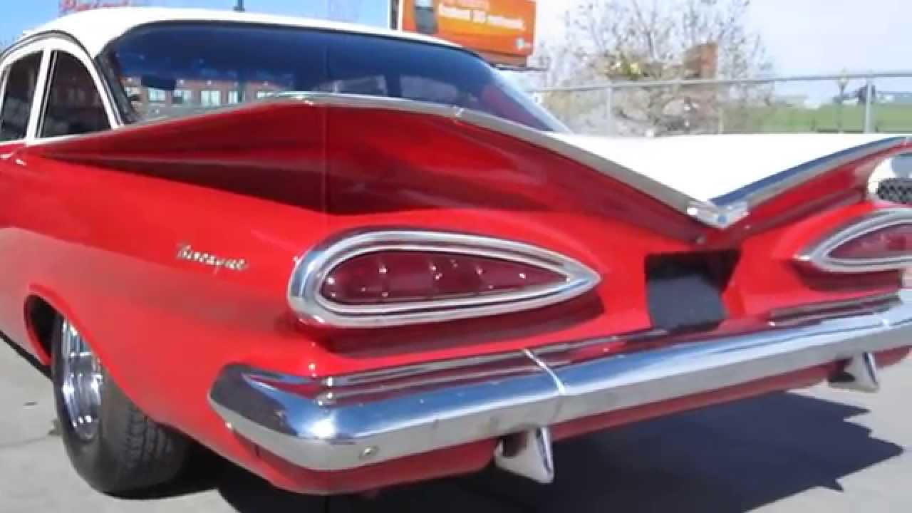 1959 Chevrolet Biscayne Coupe Restored Low Rider - YouTube