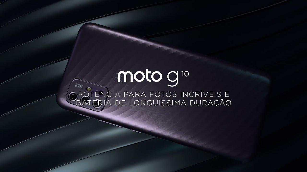 Conheça o moto g10: design elegante e confortável e bateria superpotente!