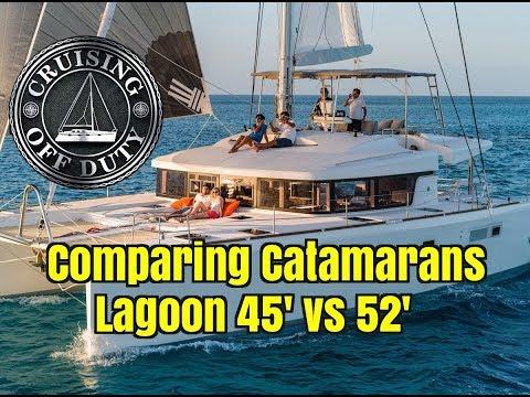 Annapolis Sailboat Show 2017. Comparing Catamarans. Lagoon 45' vs 52'. Ep89