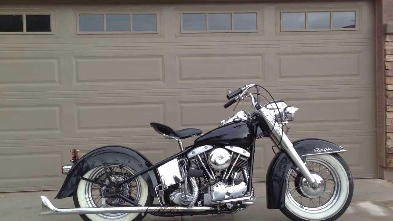 1955 Harley Davidson Fl - Cold Start