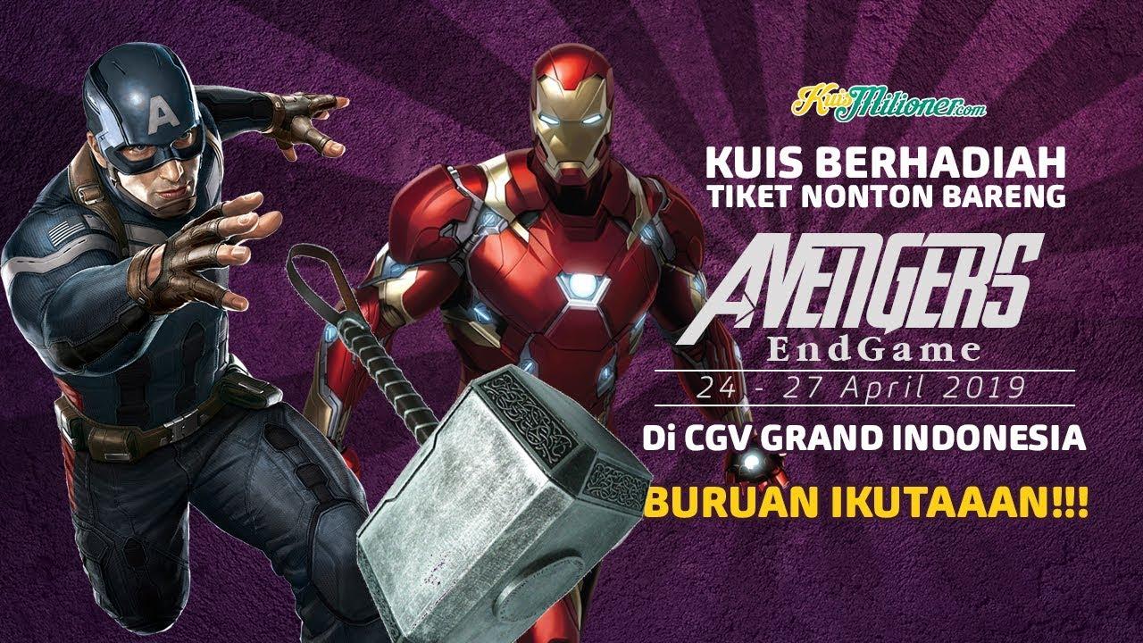 avengers: endgame tiket gratis - youtube