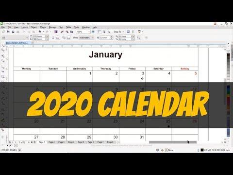How To Create A 2020 Calendar Design With CorelDraw