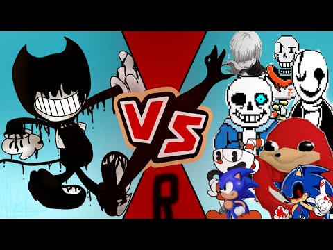 Pelea Pivot【 Bendy Vs Sans And Papyrus And Gaster And uganda knuckles And Kaneki】By:MonsTer23