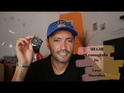 MEGIR AMARELO -  RELÓGIO DE LUXO PARA HOMEM