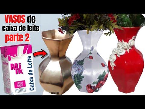 Vaso de caixa de leite |Diy |  3 formas como pintar o vaso