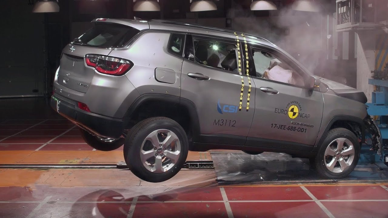 2018 jeep compass crash test youtube. Black Bedroom Furniture Sets. Home Design Ideas