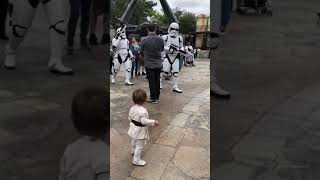 Young Padawan's Faceoff With Stormtroopers at Galaxy's Edge!!