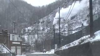 Northfork WV. Rt. 52 Snow 02-17-10