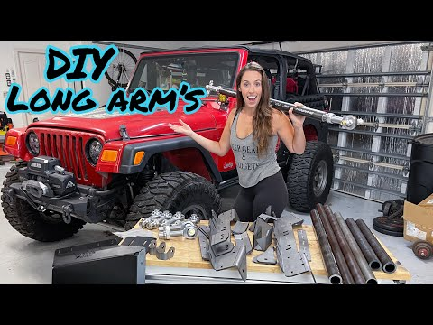 Installing DIY Long Arms on My Jeep Wrangler!