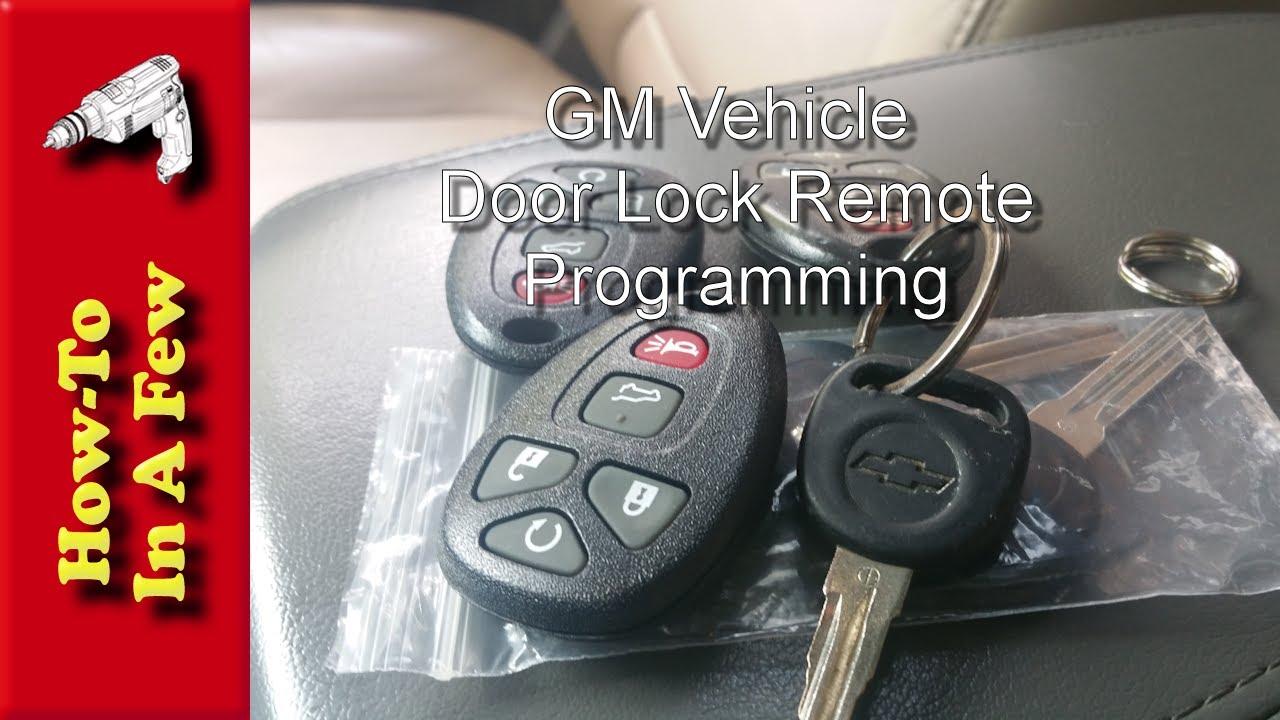 How To: Program GMC Door Lock Remotes