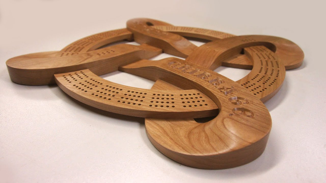 Celtic Cribbage Board CNC Project YouTube