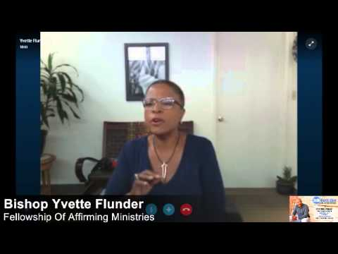 Dr. Antoine talks with Bishop Yvette Flunder