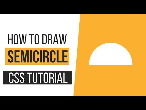 How to Draw a Semi-Circle with CSS | How to Draw CSS Shapes-Tutorial 5 | CSS Tutorials thumbnail
