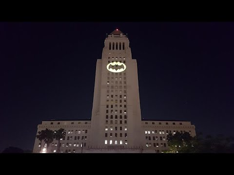 Bat Signal Lights Up LA City Hall In Memorial For Adam West