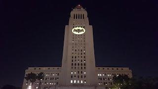 Bat Signal Lights Up LA City Hall In Memorial For Adam West