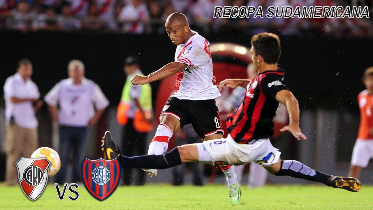 River  Vs San Lorenzo  Recopa Sudamericana  Ida Gol Sanchez Youtube