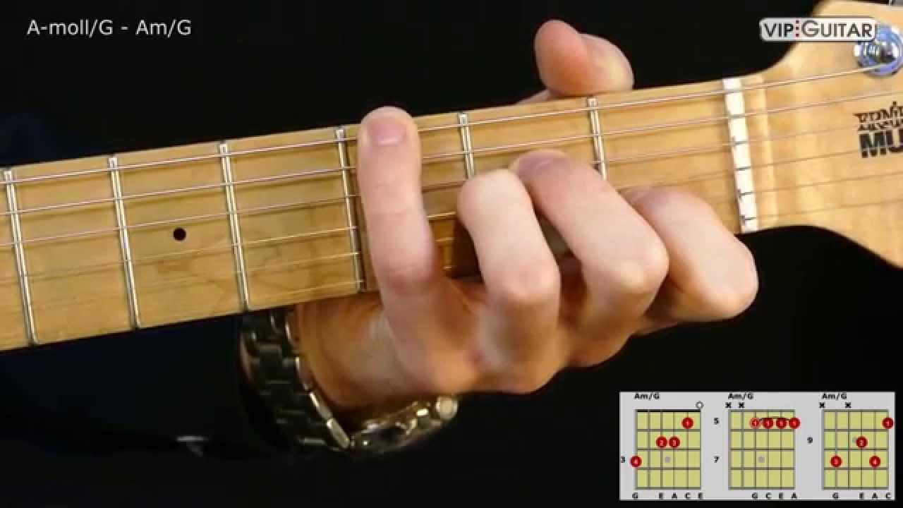 Gitarrenakkorde A Mollg Amg Chord Youtube