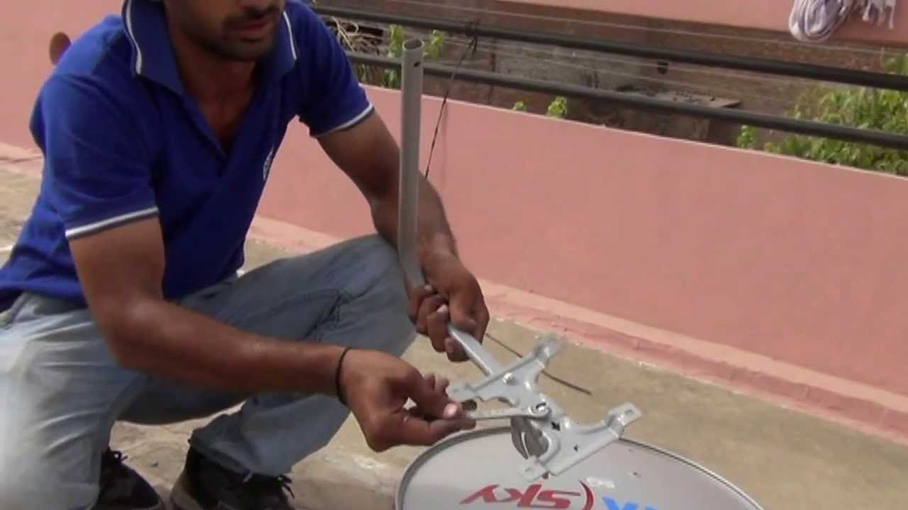 Wiring Satellite Dish Assembling Of Tata Sky Live Video Hindi 720p Hd Youtube