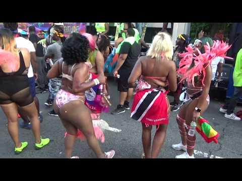 WEST INDIAN CARNIVAL PARADE 2018 BROOKLYN - SUGA CANDY MAS CARIBBEAN ISLANDS GIRLS DANCE AT CARNIVAL