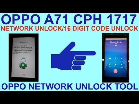 How To Oppo A71 Network Unlock 1 Click  - The Most Popular