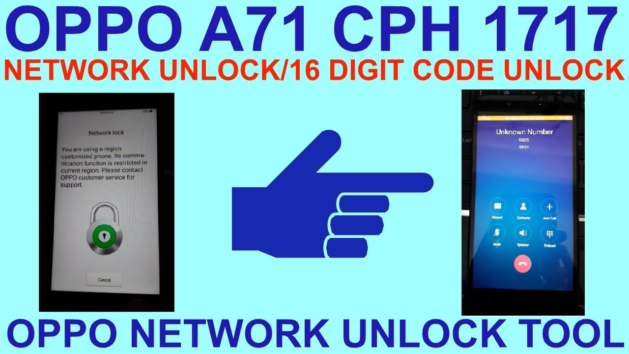 How To Oppo A71 Network Unlock 1 Click  by GSM Solution