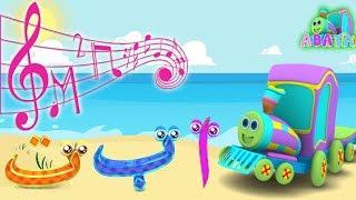 Sea Arabic Alphabet Song Cartoon 3D Animation With Battar Hijaiyah Trains For Children and Kids