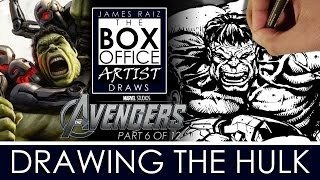 AVENGERS AGE OF ULTRON Part 6 of 12: DRAWING THE INCREDIBLE HULK