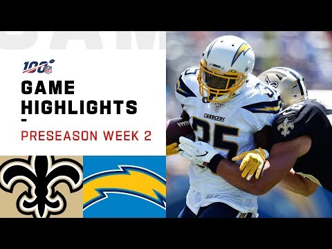 Saints vs. Chargers Preseason Week 2 Highlights | NFL 2019