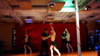 Salsa performance: Eddie, Maria, and DF Latin Dance Team