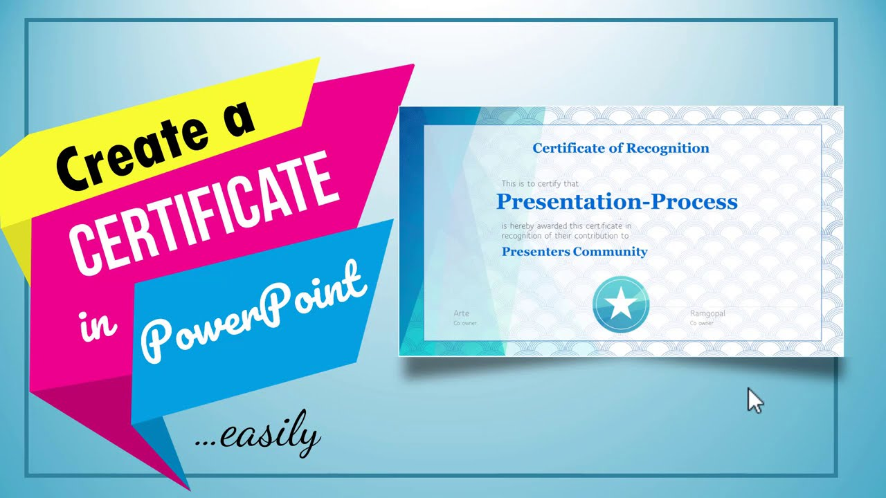 Create a Certificate in PowerPoint