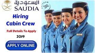 Saudi Airlines Job Notification For Cabin Crew | How to Apply Online