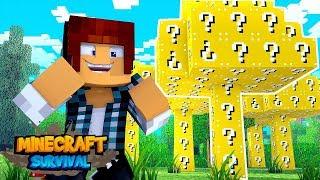 Minecraft Survival #08 - ÁRVORE DE LUCKY BLOCK !!