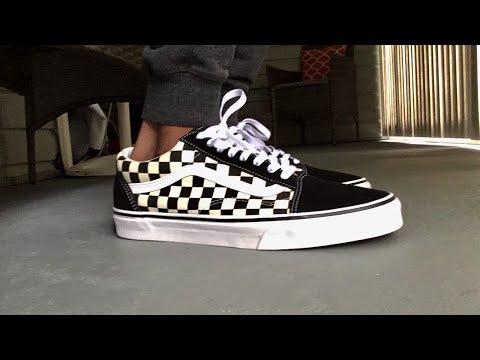 checker vans on feet Limit discounts 54