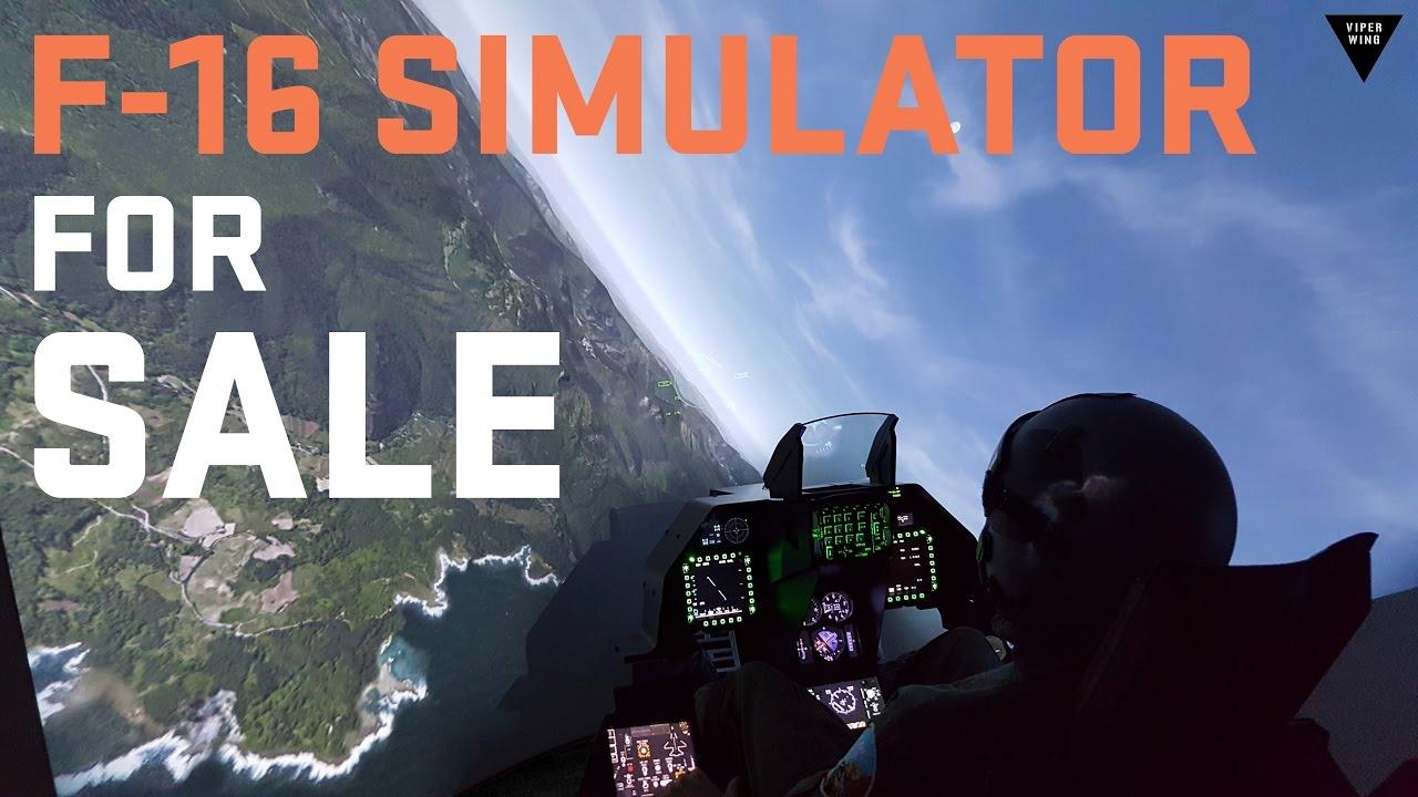 F-16 Fighter Jet Simulator FOR SALE  The cockpit in 8 weeks!