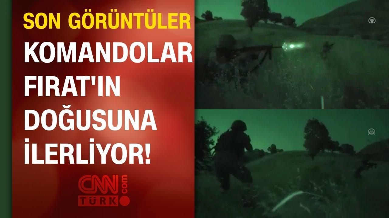 Barış Pınarı Harekatı'ndan son görüntüler: Komandolar Fırat'ın doğusuna ilerliyor!